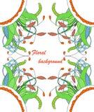 Floral στοιχείο Zentangle Στοκ Φωτογραφίες