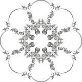Floral στρογγυλό σχέδιο Διανυσματική απεικόνιση