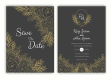 Floral συρμένο χέρι πλαίσιο για μια γαμήλια πρόσκληση ελεύθερη απεικόνιση δικαιώματος