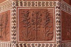 Floral σχέδια στον τοίχο στο Taj Mahal σύνθετο Στοκ εικόνα με δικαίωμα ελεύθερης χρήσης