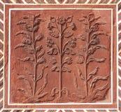 Floral σχέδια στον τοίχο στο Taj Mahal σύνθετο Στοκ φωτογραφία με δικαίωμα ελεύθερης χρήσης
