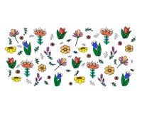 Floral σχέδια στο άσπρο υπόβαθρο ελεύθερη απεικόνιση δικαιώματος