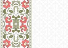Floral σχέδιο για την κάρτα πρόσκλησης Στοκ Φωτογραφία
