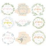 Floral σχέδιο πλαισίων ημέρας μητέρων ` s ελεύθερη απεικόνιση δικαιώματος