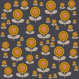 Floral σχέδιο στη Σκανδιναβική διανυσματική απεικόνιση ύφους Στοκ εικόνες με δικαίωμα ελεύθερης χρήσης