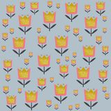 Floral σχέδιο στη Σκανδιναβική διανυσματική απεικόνιση ύφους Στοκ φωτογραφία με δικαίωμα ελεύθερης χρήσης