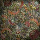 Floral σχέδιο στο σκοτεινό backlground Στοκ εικόνες με δικαίωμα ελεύθερης χρήσης