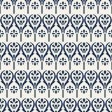 Floral σχέδιο blockprint Ελεύθερη απεικόνιση δικαιώματος