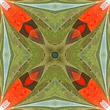 Floral σχέδιο stained-glass στο ύφος παραθύρων Μπορείτε να το χρησιμοποιήσετε για στοκ φωτογραφίες
