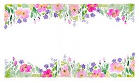 Floral σχέδιο Watercolor στοκ φωτογραφία με δικαίωμα ελεύθερης χρήσης
