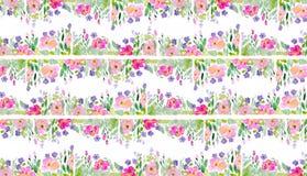 Floral σχέδιο Watercolor στοκ εικόνες με δικαίωμα ελεύθερης χρήσης