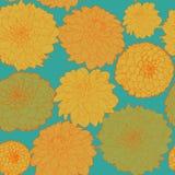 Floral σχέδιο άνοιξη μετα-Impressionism ηλιόλουστο Στοκ Φωτογραφίες