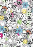 Floral σχέδιο γραμμών. Στοκ φωτογραφίες με δικαίωμα ελεύθερης χρήσης