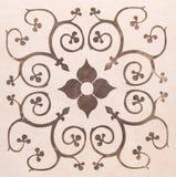 Floral σχέδιο επίδειξης στην κρέμα Στοκ εικόνες με δικαίωμα ελεύθερης χρήσης