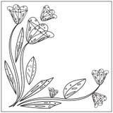 Floral σχέδιο περιλήψεων Στοκ φωτογραφία με δικαίωμα ελεύθερης χρήσης