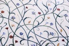 Floral σχέδιο σε έναν τοίχο στο μεγάλο μουσουλμανικό τέμενος Στοκ φωτογραφίες με δικαίωμα ελεύθερης χρήσης