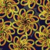 Floral σχέδιο σε σκοτεινό NBackground Στοκ Εικόνα