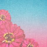 Floral σχέδιο στον καμβά Στοκ Εικόνα
