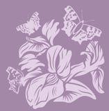 Floral σχέδιο της Iris Στοκ φωτογραφία με δικαίωμα ελεύθερης χρήσης