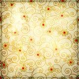 Floral σχέδιο υποβάθρου Grunge Στοκ Εικόνες