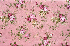 Floral σχέδιο υφάσματος σύστασης υποβάθρου Στοκ φωτογραφία με δικαίωμα ελεύθερης χρήσης
