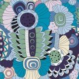 Floral σχέδιο doodle αποθεμάτων άνευ ραφής προσανατολίστε Αφηρημένο β Στοκ εικόνα με δικαίωμα ελεύθερης χρήσης