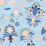 Floral σχέδιο doodle αποθεμάτων άνευ ραφής προσανατολίστε Αφηρημένο β Στοκ φωτογραφίες με δικαίωμα ελεύθερης χρήσης