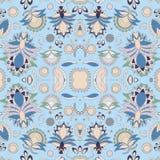 Floral σχέδιο doodle αποθεμάτων άνευ ραφής προσανατολίστε Αφηρημένο β Στοκ Φωτογραφία