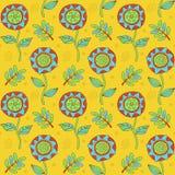 Floral σχέδιο doodle διανυσματική απεικόνιση