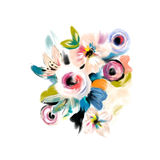 Floral σχέδιο Watercolor Στοκ Φωτογραφία