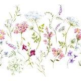 Floral σύνθεση Watercolor διανυσματική απεικόνιση
