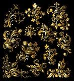 floral σύνολο διακοσμήσεων απεικόνιση αποθεμάτων