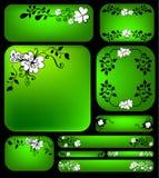 floral σύνολο εμβλημάτων Στοκ Εικόνα