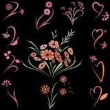floral σύνολο Στοκ Φωτογραφία
