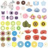 floral σύνολο Στοκ Φωτογραφίες