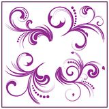 floral σύνολο 4 στοιχείων Διανυσματική απεικόνιση