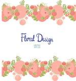 Floral σύνορα Horisontal Στοκ Εικόνες