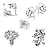 Floral σύνολο γραμματοσήμων Στοκ Φωτογραφίες