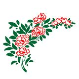 Floral σύντομο χρονογράφημα γωνιών Στοκ Εικόνα
