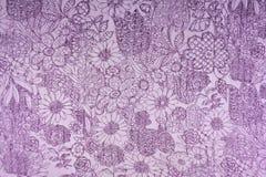 Floral σύσταση και υπόβαθρο υφάσματος Στοκ Εικόνες