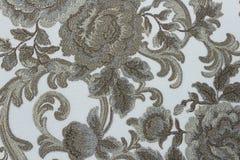 Floral ταπετσαρία υποβάθρου στον τοίχο Στοκ εικόνα με δικαίωμα ελεύθερης χρήσης