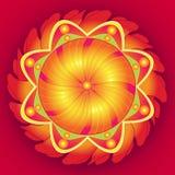 Floral τελειότητα Mandala Στοκ εικόνες με δικαίωμα ελεύθερης χρήσης