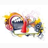 Floral τηλεοπτικό διανυσματικό σχέδιο Στοκ Φωτογραφία
