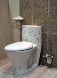 floral τουαλέτα βασικού εσωτερικού Στοκ φωτογραφία με δικαίωμα ελεύθερης χρήσης