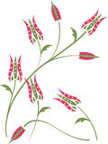 floral τουλίπα προτύπων ανασκόπησης Στοκ Φωτογραφία