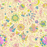 Floral τρυφερό άνευ ραφής πρότυπο χρώματος Στοκ εικόνες με δικαίωμα ελεύθερης χρήσης
