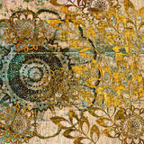 floral τρύγος ανασκόπησης τέχνη&sig ελεύθερη απεικόνιση δικαιώματος