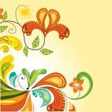 floral τρύγος ανασκόπησης διανυσματική απεικόνιση