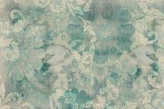 floral τρύγος λευκώματος αποκομμάτων ανασκόπησης Στοκ φωτογραφίες με δικαίωμα ελεύθερης χρήσης