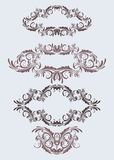 floral τρύγος πλαισίων Στοκ Εικόνα